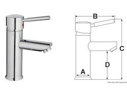 Miscelatore ceramico Diana per lavelli bagno
