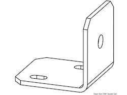 Staffa inox per comando flessibile a distanza