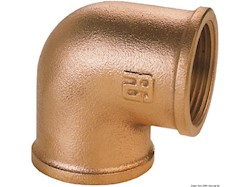 Gomito 90° F-F in bronzo GUIDI