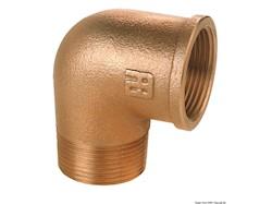 Gomito 90° M-F in bronzo GUIDI