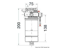 Filtro per gasolio in carta da 12 micron