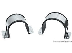 Cavallotto gommato in acciaio inox per tubi singoli