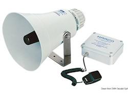 Tromba MARCO elettronica con amplificatore per imbarcazioni dai 20 ai 75 metri