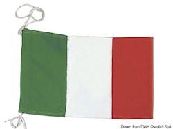 Bandiera di cortesia Italiana in stamina di poliestere