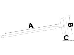 Spazzolone telescopico MAFRAST in alluminio anodizzato con rubinetto di chiusura a rotazione