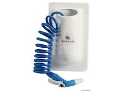 Contenitore verticale con tubo acqua spiralato
