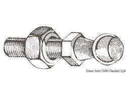 Pallina in acciaio per montaggio a scatto molla a gas