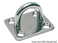 Piastrina rettangolare con anello