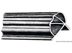 Profilo parabordo in PVC flessibile per pontili o grossi scafi
