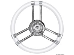 Volante C inox/bianco 350 mm