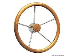 Timone con cerchio esterno in teak a grosso diametro