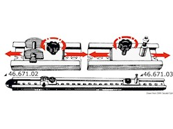 Sistema a rotaie con scorrevoli per capottine