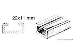 Rotaia in alluminio e scorrevoli nylon