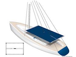 Cagnaro TESSILMARE in tessuto impermeabile bianco per scafi a vela