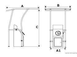 T-Top in alluminio retrattile