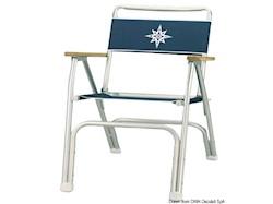 Sedia pieghevole in alluminio anodizzato