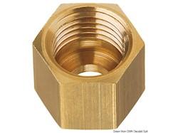 Dado in ottone per tubo rame da 8 mm, passo M14 x 1.5F