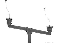 Kit pilette con tappo catena e tubi di scarico