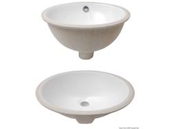 Lavelli ovali in ceramica bianca