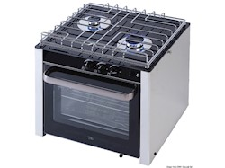 Cucina a gas con forno a snodo cardanico