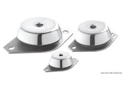 Supporto elastico antivibrante per motori entrobordo e generatore completo di controtampone