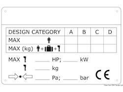 Placchetta per identificazione scafi