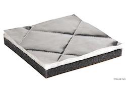 Pannelli fonoassorbenti, fonoimpedenti, termoresistenti con trapunta in fibra di vetro ISO 4589-3