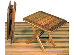 Tavolo pieghevole ARC in Teak regolabile in altezza