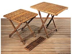 Tavolo pieghevole ARC in Teak e inserto per allargarlo
